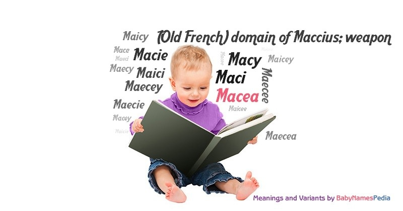 Meaning of the name Macea
