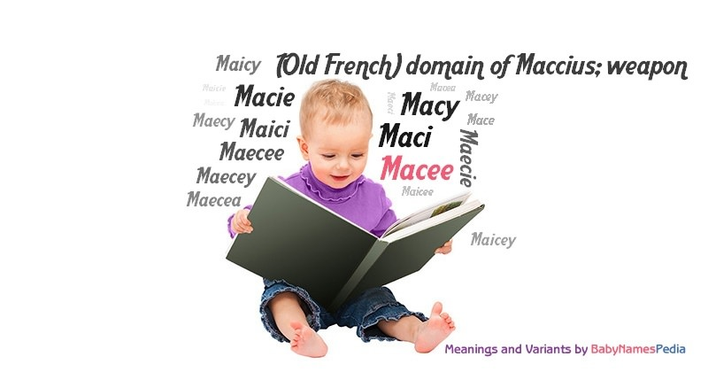 Meaning of the name Macee