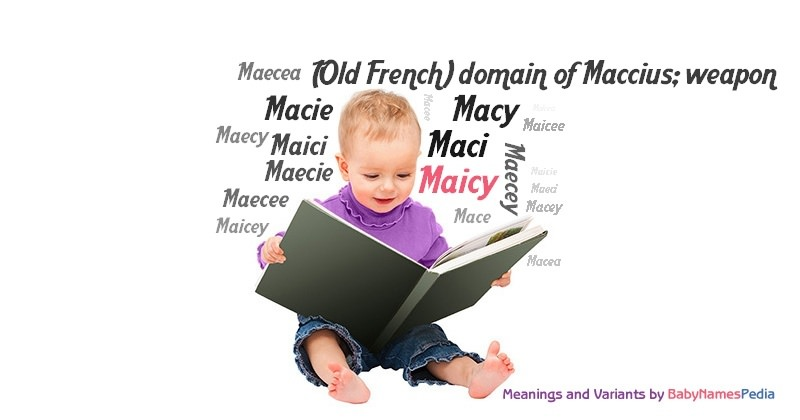 Meaning of the name Maicy