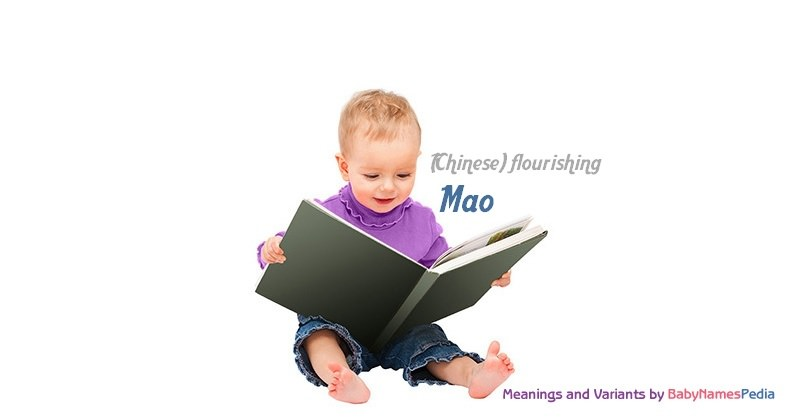 Meaning of the name Mao