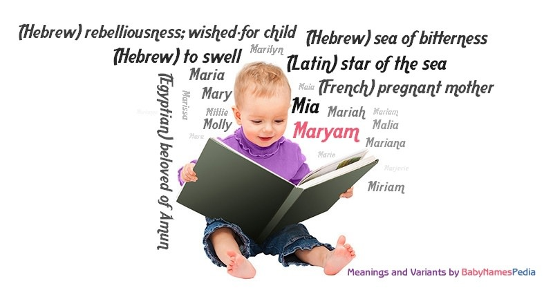 Meaning of the name Maryam