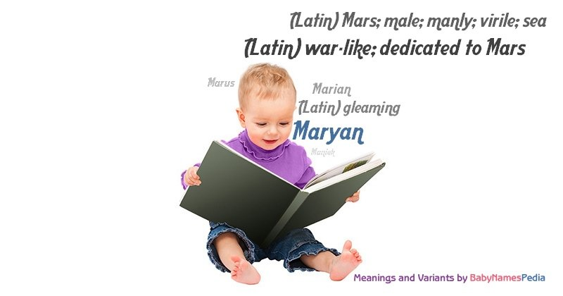 Meaning of the name Maryan