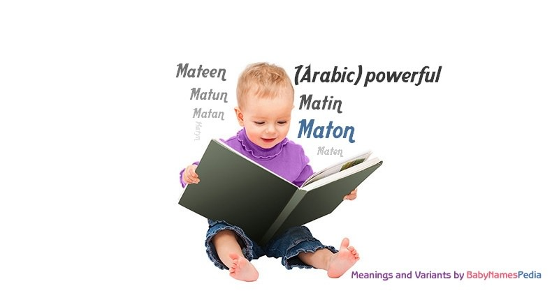 Meaning of the name Maton