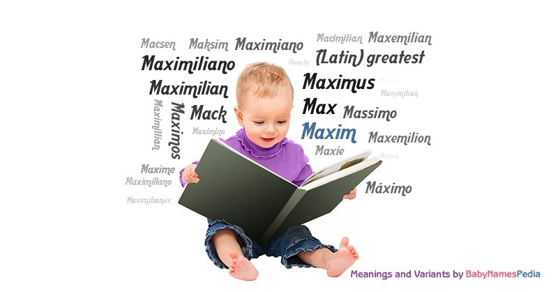 Meaning of the name Maxim