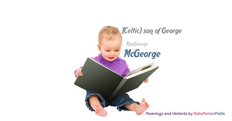 Meaning of the name McGeorge
