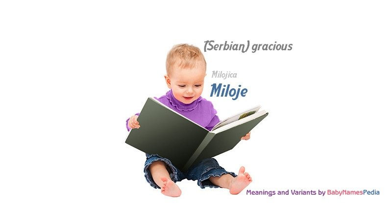 Meaning of the name Miloje
