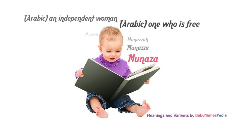 Meaning of the name Munaza