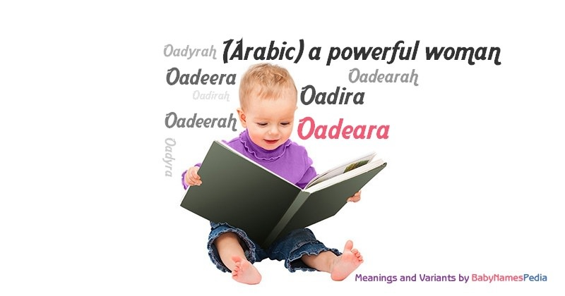 Meaning of the name Oadeara
