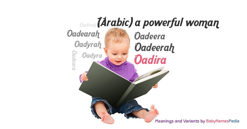 Meaning of the name Oadira