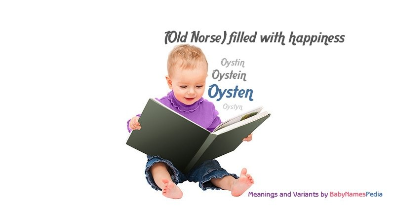 Meaning of the name Oysten