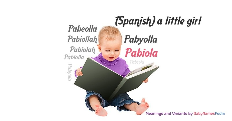 Meaning of the name Pabiola