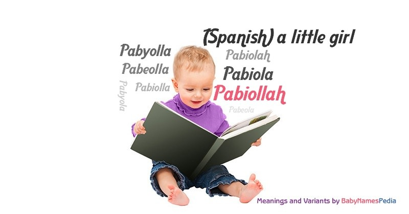 Meaning of the name Pabiollah