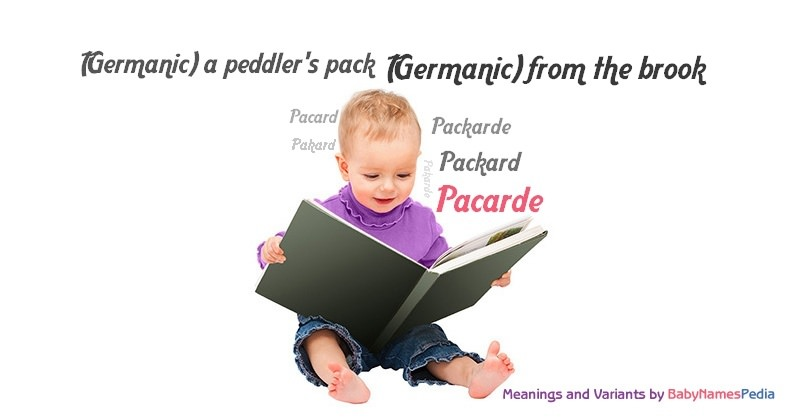 Meaning of the name Pacarde