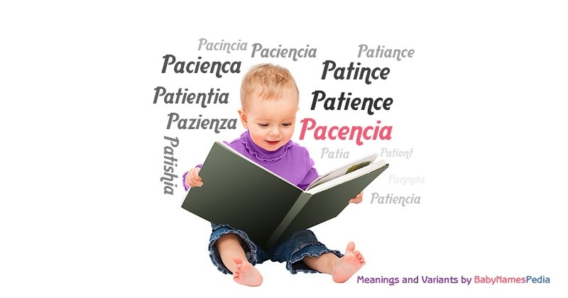 Meaning of the name Pacencia
