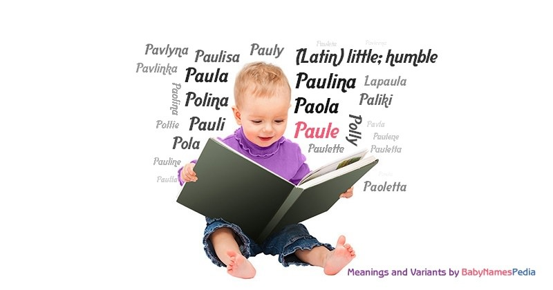 Meaning of the name Paule