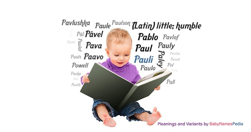 Meaning of the name Pauli