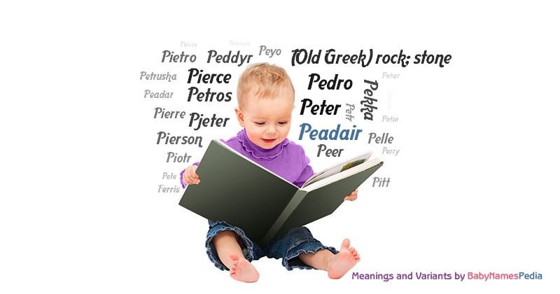 Meaning of the name Peadair