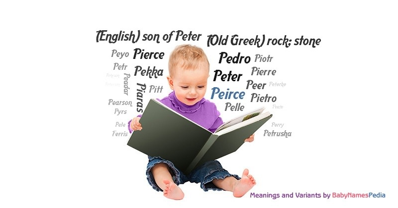 Meaning of the name Peirce