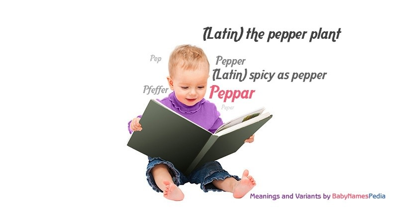 Meaning of the name Peppar