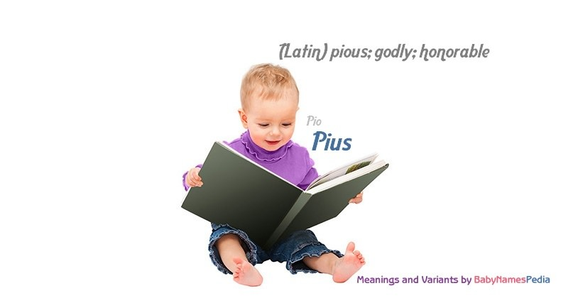 Meaning of the name Pius