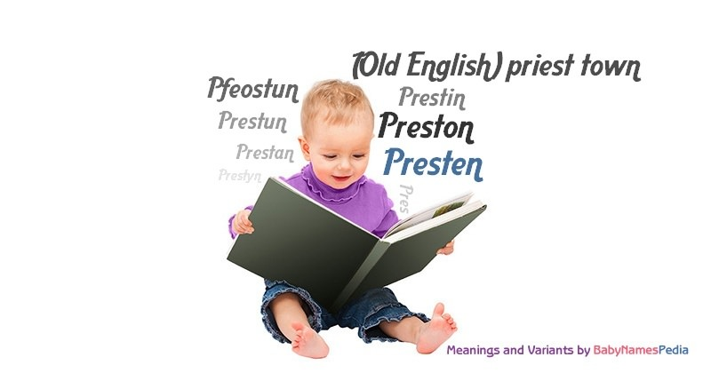 Meaning of the name Presten
