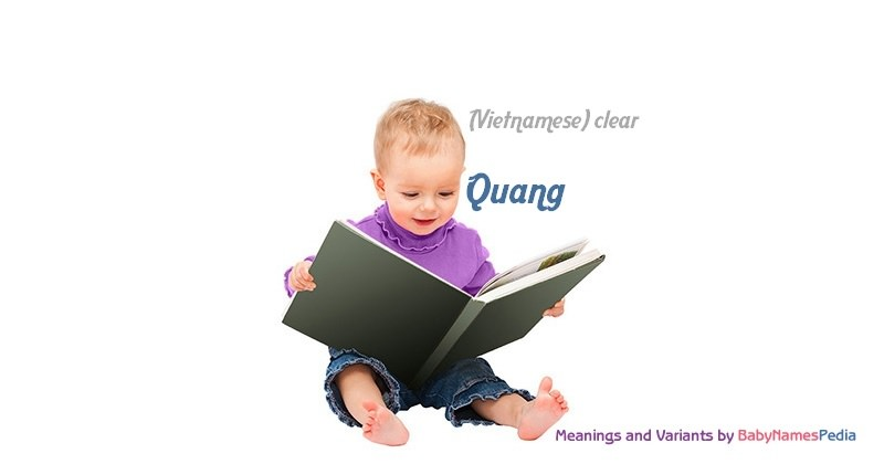 Meaning of the name Quang