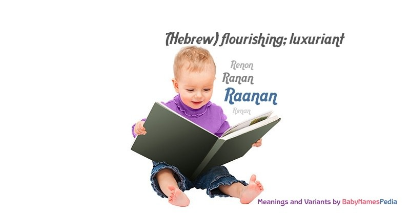 Meaning of the name Raanan