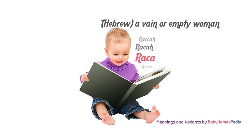 Meaning of the name Raca