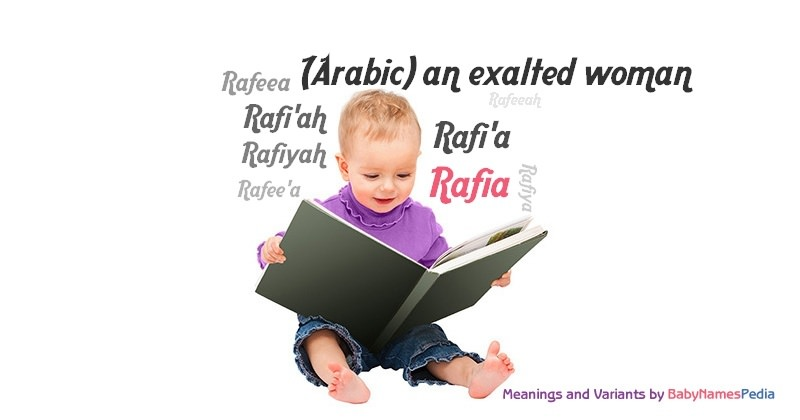 Meaning of the name Rafia