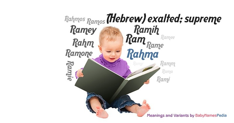 Meaning of the name Rahma