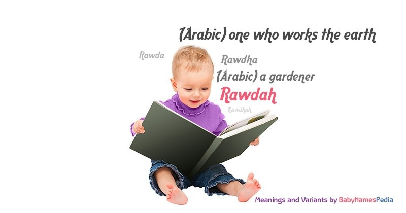 Meaning of the name Rawdah