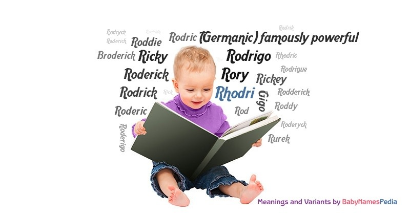 Meaning of the name Rhodri