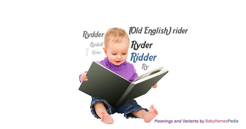 Meaning of the name Ridder