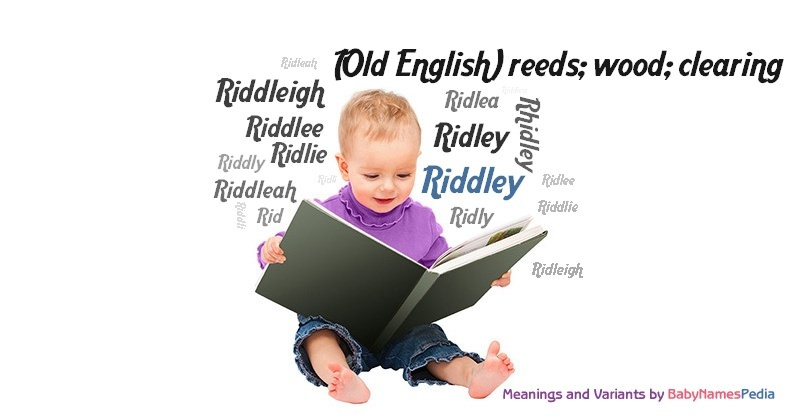 Meaning of the name Riddley