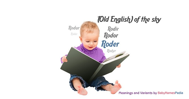 Meaning of the name Roder