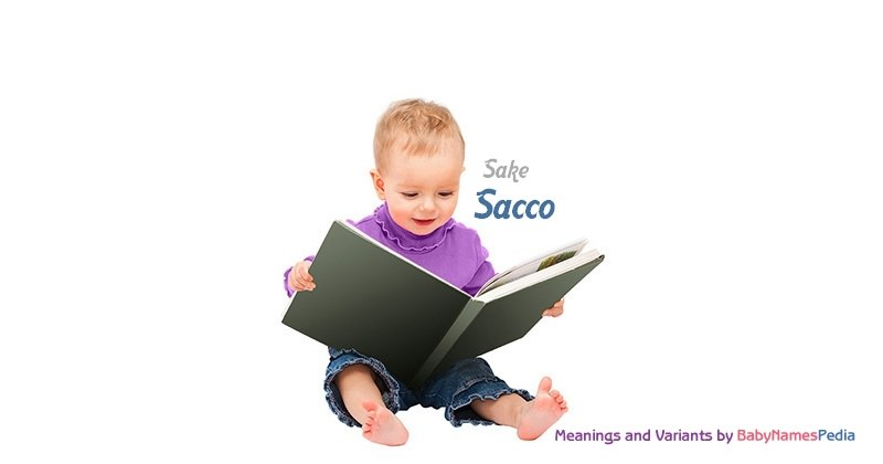 Meaning of the name Sacco