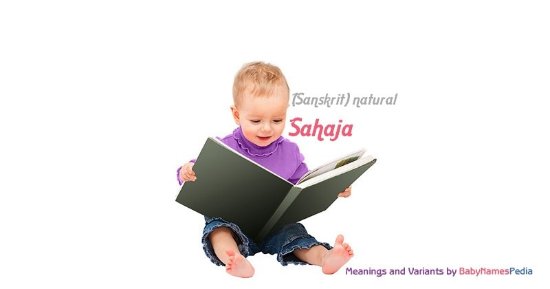 Meaning of the name Sahaja