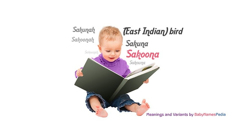 Meaning of the name Sakoona