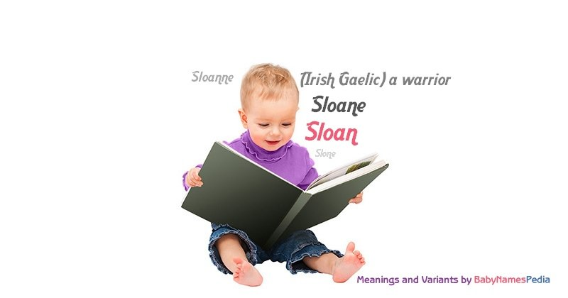 Meaning of the name Sloan