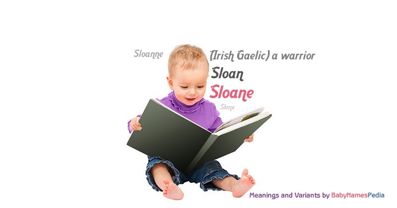 Meaning of the name Sloane