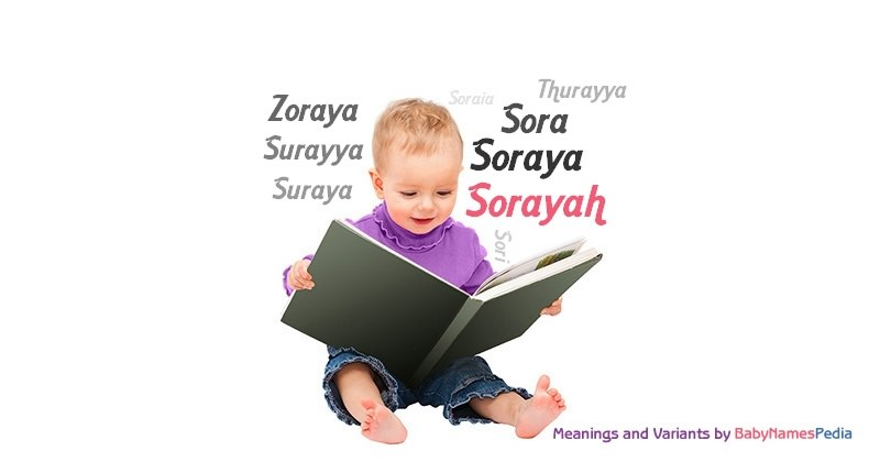 Meaning of the name Sorayah