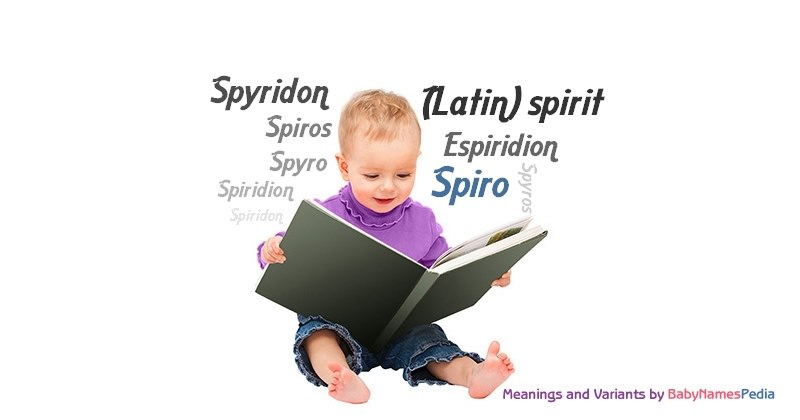 Meaning of the name Spiro