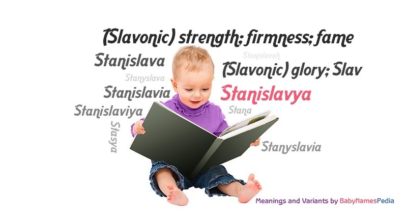Meaning of the name Stanislavya