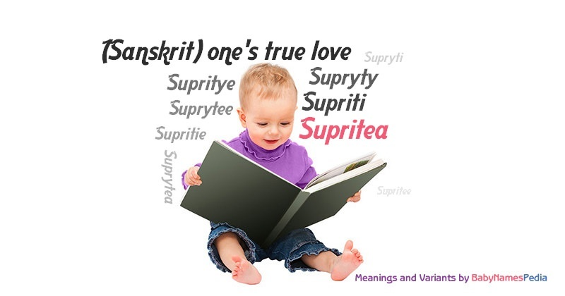 Meaning of the name Supritea