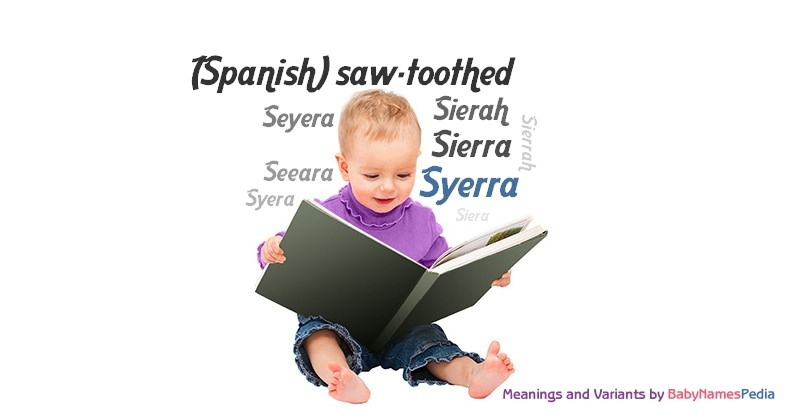 Meaning of the name Syerra