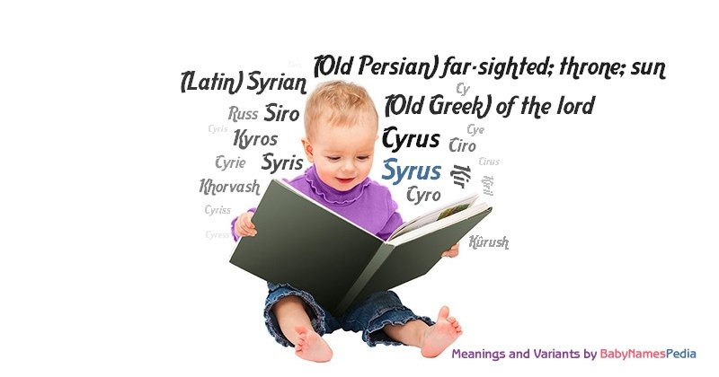 Meaning of the name Syrus