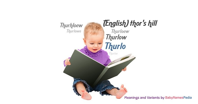 Meaning of the name Thurlo