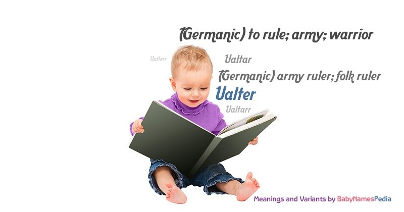 Meaning of the name Ualter