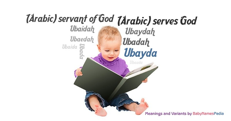 Meaning of the name Ubayda