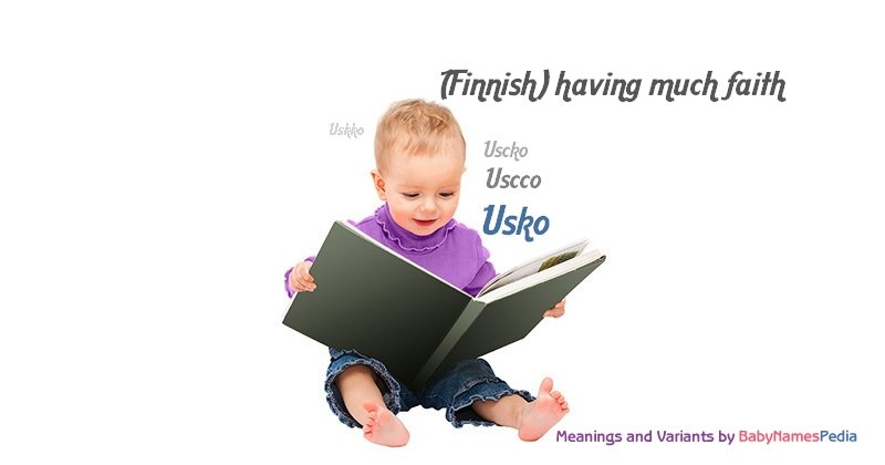 Meaning of the name Usko